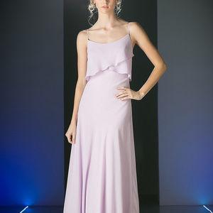 A-Line Long Evening Cute Dress CDCF074